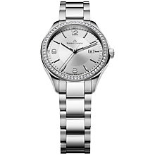 Buy Maurice Lacroix MI1014-SD502-130 Women's Miros Diamond Set Bezel Bracelet Watch, Silver Online at johnlewis.com