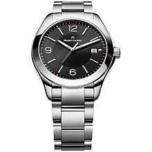Buy Maurice Lacroix MI1018-SS002-330 Men's Miros Black Dial Bracelet Watch, Black Online at johnlewis.com