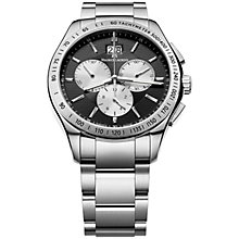 Buy Maurice Lacroix MI1028-SS002-332 Men's Miros Black Dial Chronograph Bracelet Watch, Black Online at johnlewis.com