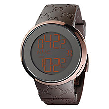 Buy Gucci Men's I-Gucci Rubber Logo Strap Digital Watch Online at johnlewis.com