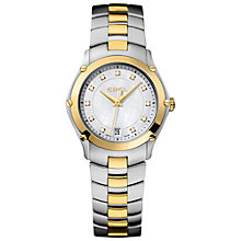 Buy Ebel 1216029 Women's Classic Sport Lady Two-Tone Bracelet Watch, Silver/Gold Online at johnlewis.com