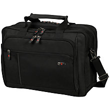 "Buy Victorinox WT Standard Expandable 15.4"" Laptop Work Bag, Black Online at johnlewis.com"