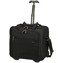 "Buy Victorinox 2-Wheel 15.4"" Laptop Expandable Briefcase, Black Online at johnlewis.com"