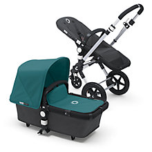 Buy Bugaboo Cameleon3 Pushchair Base Unit and Carrycot, Aluminium/Dark Grey Online at johnlewis.com