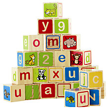 Buy Hape Eco ABC 123 Blocks Online at johnlewis.com