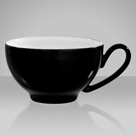 Buy Denby Eclipse Teacup, 0.2L, Black Online at johnlewis.com