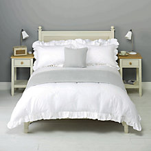 Buy John Lewis Annie Frill Oxford Pillowcase, White Online at johnlewis.com