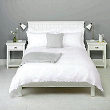 Buy John Lewis Lizzie Oxford Pillowcase, White Online at johnlewis.com