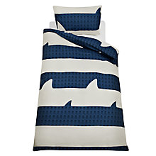 Buy little home at John Lewis Walk The Plank Stripe Single Duvet Cover Set, Blue/White Online at johnlewis.com