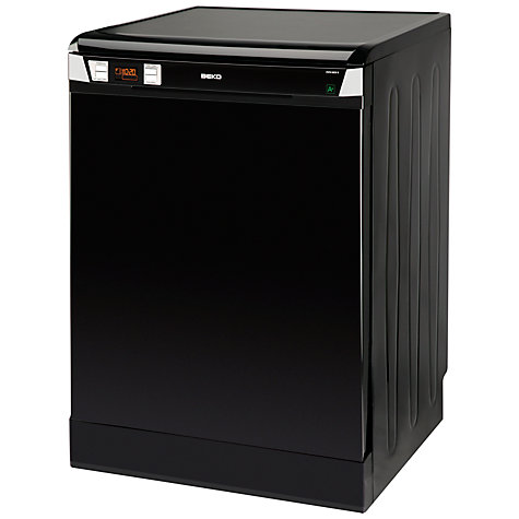 Buy Beko DSFN6830B Freestanding Dishwasher, Black Online at johnlewis.com