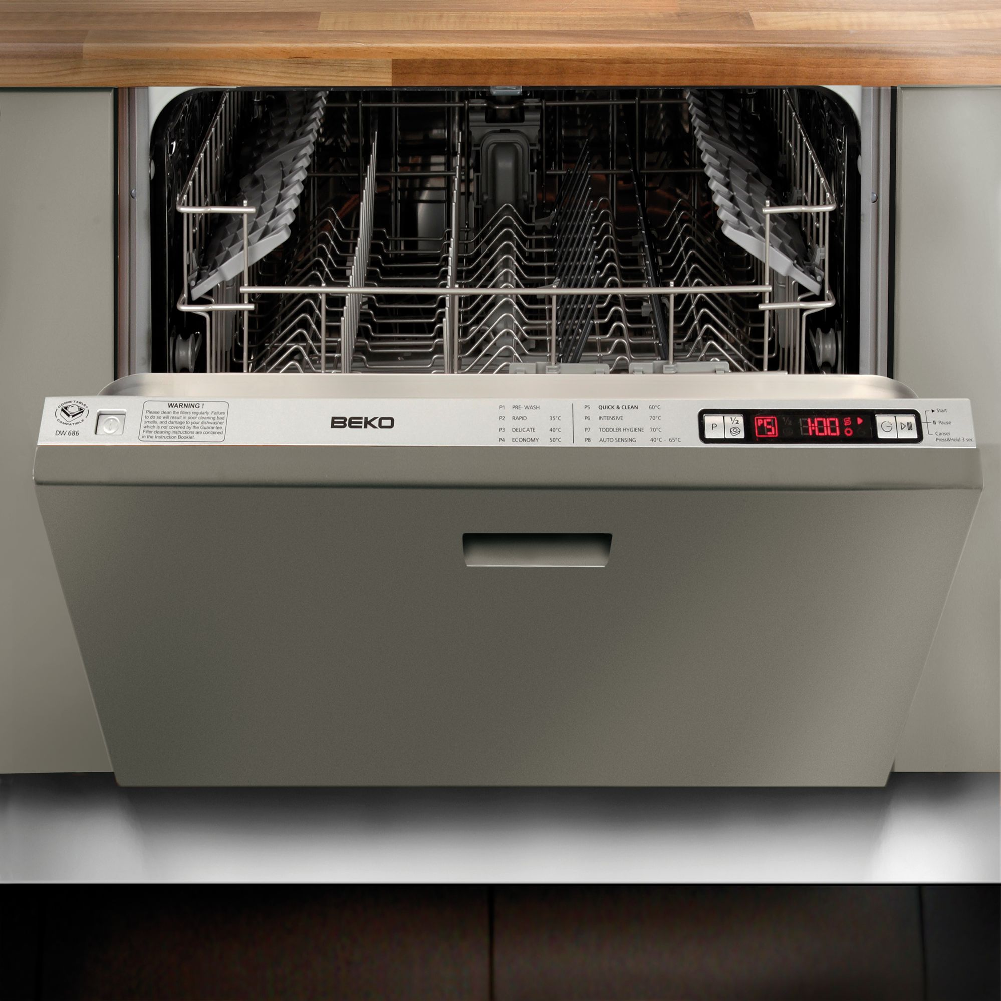 Beko DW686 Integrated Dishwasher