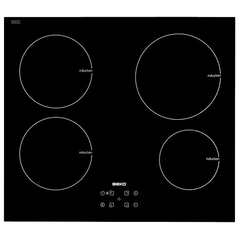 Buy Beko HII64400AT Ceramic Induction Hob, Black Online at johnlewis.com