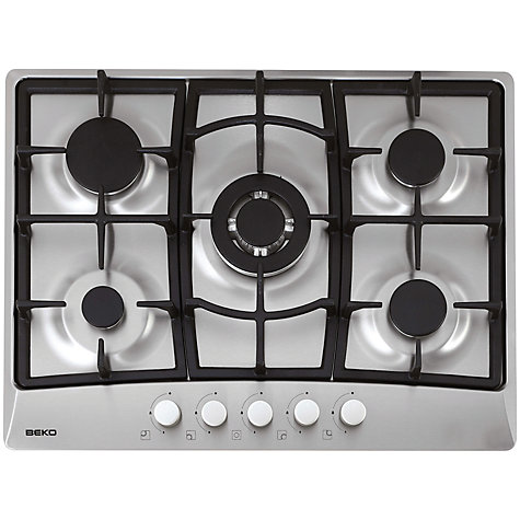 Buy Beko HIG75221SX Gas Hob, Stainless Steel Online at johnlewis.com
