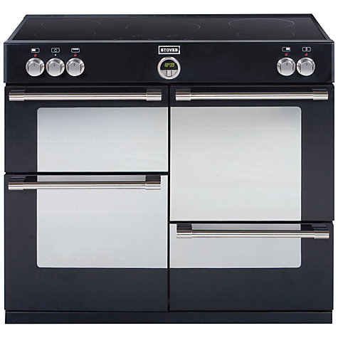 Buy Stoves Sterling 1000EI Induction Hob Range Cooker, Black Online at johnlewis.com