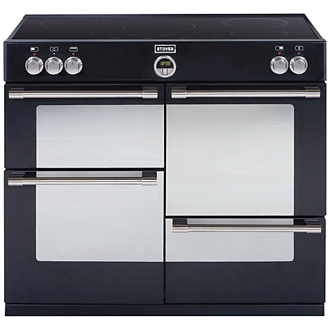 Buy Stoves Sterling 1100EI Range Cooker, Black Online at johnlewis.com