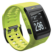 Buy Nike+ SportWatch Powered by TomTom GPS with Shoe Sensor, Yellow/Black Online at johnlewis.com