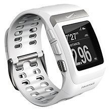 Buy Nike+ SportWatch GPS with Shoe Sensor, White/Silver Online at johnlewis.com