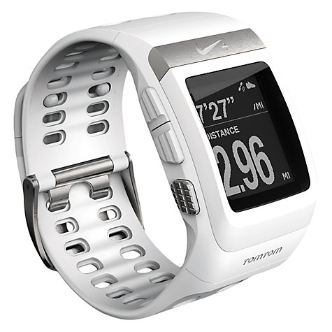 Buy Nike+ SportWatch Powered by TomTom GPS with Shoe Sensor, White/Silver Online at johnlewis.com