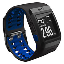 Buy Nike+ SportWatch Powered by TomTom GPS, Anthracite/Blue Online at johnlewis.com