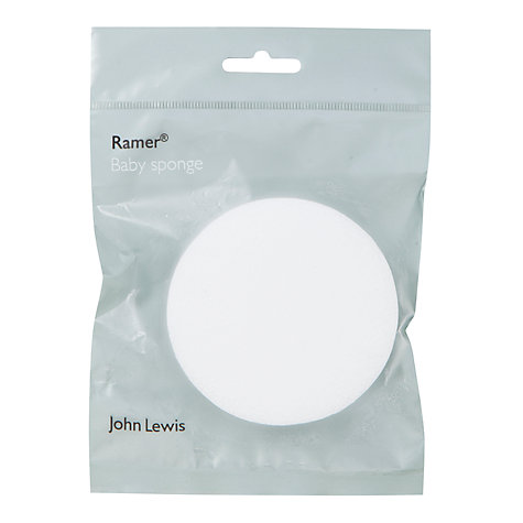 Buy Ramer Baby Sponge, White Online at johnlewis.com