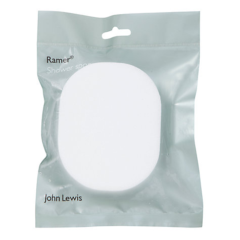 Buy John Lewis Shower Sponge, White Online at johnlewis.com