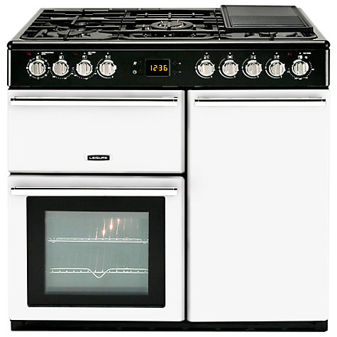 Buy Leisure CMCF99W Dual Fuel Range Cooker, White Online at johnlewis.com