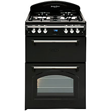 Buy Leisure GRB6GVK Gas Cooker, Black Online at johnlewis.com