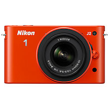 "Buy Nikon 1 J2 Compact System Camera with 10-30mm Lens, HD 1080p, 10.1MP, 3"" LCD Screen, Orange Online at johnlewis.com"