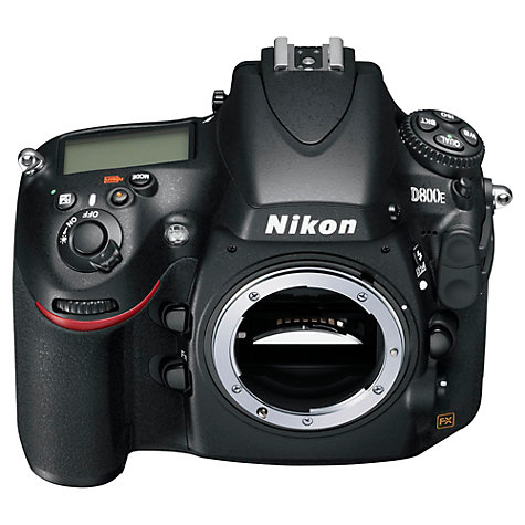 "Buy Nikon D800E Digital SLR Camera, HD 1080p, 36.3MP, 3.2"" LCD Screen, Black, Body Only Online at johnlewis.com"