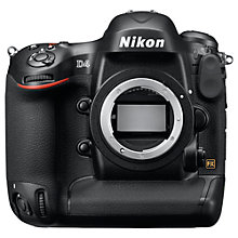 "Buy Nikon D4 Digital SLR Camera with 80-400mm Lens, HD 720p, 16.2MP, 3.2"" Screen Online at johnlewis.com"