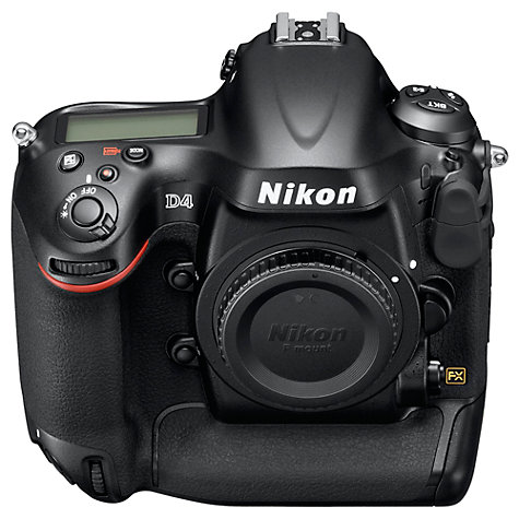"Buy Nikon D4 Digital SLR Camera, HD 720p, 16.2MP, 3.2"" Screen, Body Only Online at johnlewis.com"