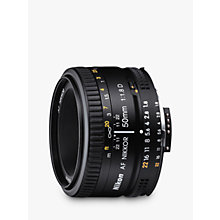 Buy Nikon FX 50mm f/1.8D AF Standard Lens Online at johnlewis.com