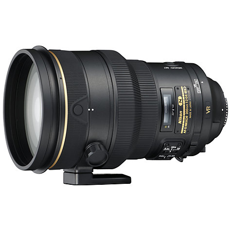 Buy Nikon FX 200mm f/2G IF ED VR II AF-S Telephoto Lens Online at johnlewis.com