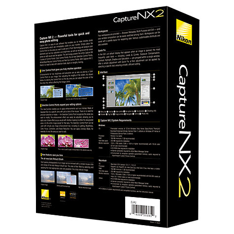 Buy Nikon Capture NX 2 Photo Editing Software for Mac & Windows Online at johnlewis.com