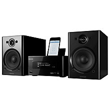 Buy Denon Piccolo Wireless iPod Dock with Apple AirPlay, Black Online at johnlewis.com