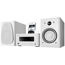 Buy Denon Piccolo DAB/FM/AM Wireless iPod Dock with Apple AirPlay, White Online at johnlewis.com