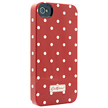 Buy Cath Kidston Mini Dot Case for iPhone 4 & 4s, Red Online at johnlewis.com