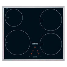Buy Miele KM6115 Ceramic Induction Hob, Stainless Steel Online at johnlewis.com