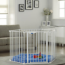 Buy Lindam Safe and Secure Playpen, White Online at johnlewis.com