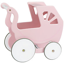 Buy Silver Cross Classic Wooden Doll's Pram, Pink Online at johnlewis.com