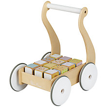 Buy Silver Cross Classic Wooden Push Along With Blocks Online at johnlewis.com