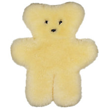 Buy John Lewis Sheepskin Teddy Bear Online at johnlewis.com