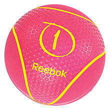 Buy Reebok Medicine Ball, Pink, 1kg Online at johnlewis.com