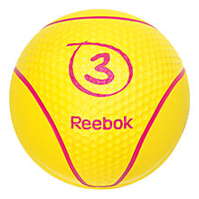 Buy Reebok Medicine Ball, Yellow, 3kg Online at johnlewis.com