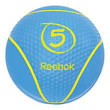 Buy Reebok Medicine Ball, Blue, 5kg Online at johnlewis.com