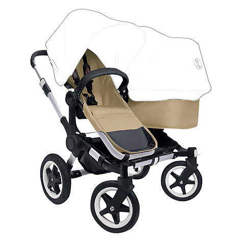 Buy Bugaboo Donkey Pushchair Base and Carrycot 1.1, Black Online at johnlewis.com