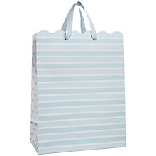 Buy John Lewis Stripe Gift Bag, Baby Blue, Medium Online at johnlewis.com