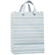 Buy John Lewis Stripe Gift Bag, Baby Blue, Small Online at johnlewis.com