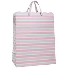 Buy John Lewis Stripe Gift Bag, Baby Pink, Medium Online at johnlewis.com