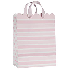 Buy John Lewis Stripe Gift Bag, Baby Pink, Small Online at johnlewis.com